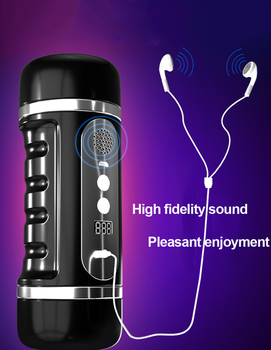 Dual Hole Oral Massager Vibrator Male Masturbation Cup Realistic Artificial Vagina Deep Throat Sucking 12 Modes Massage Toy Man 5