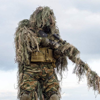 3D Camouflage Suits Woodland Clothes Wargame Paintball Airsoft Ghillie Suit Adults Kid Hunting Army Military Tactical Sniper Set 1