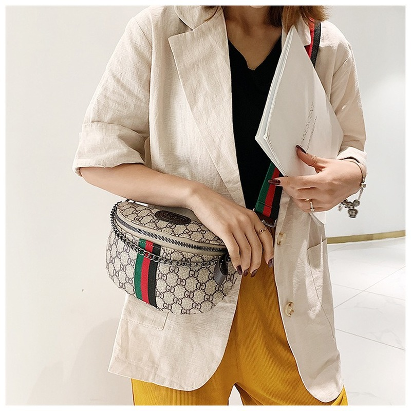 New Style Women's Bag Korean Leisure Chest Bag Waist Bag All Kinds Of Small Bag Chain Single Shoulder Messenger Chest Bag