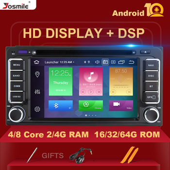 DSP 4G 2 din Android 10Car Radio Multimedia For Toyota Land Cruiser 100 200 Prado 120 150 Rush Corolla Hiace Yaris HiluxGPS navi image