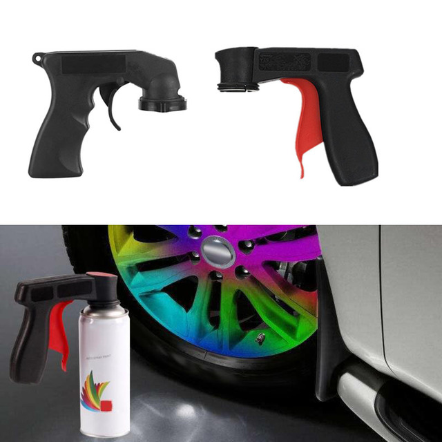 Professional Aerosol Car Spray Paint Gun Handle Adapter Full Grip Handle Trigger Airbrush For Painting Auto Paint Polish Tools
