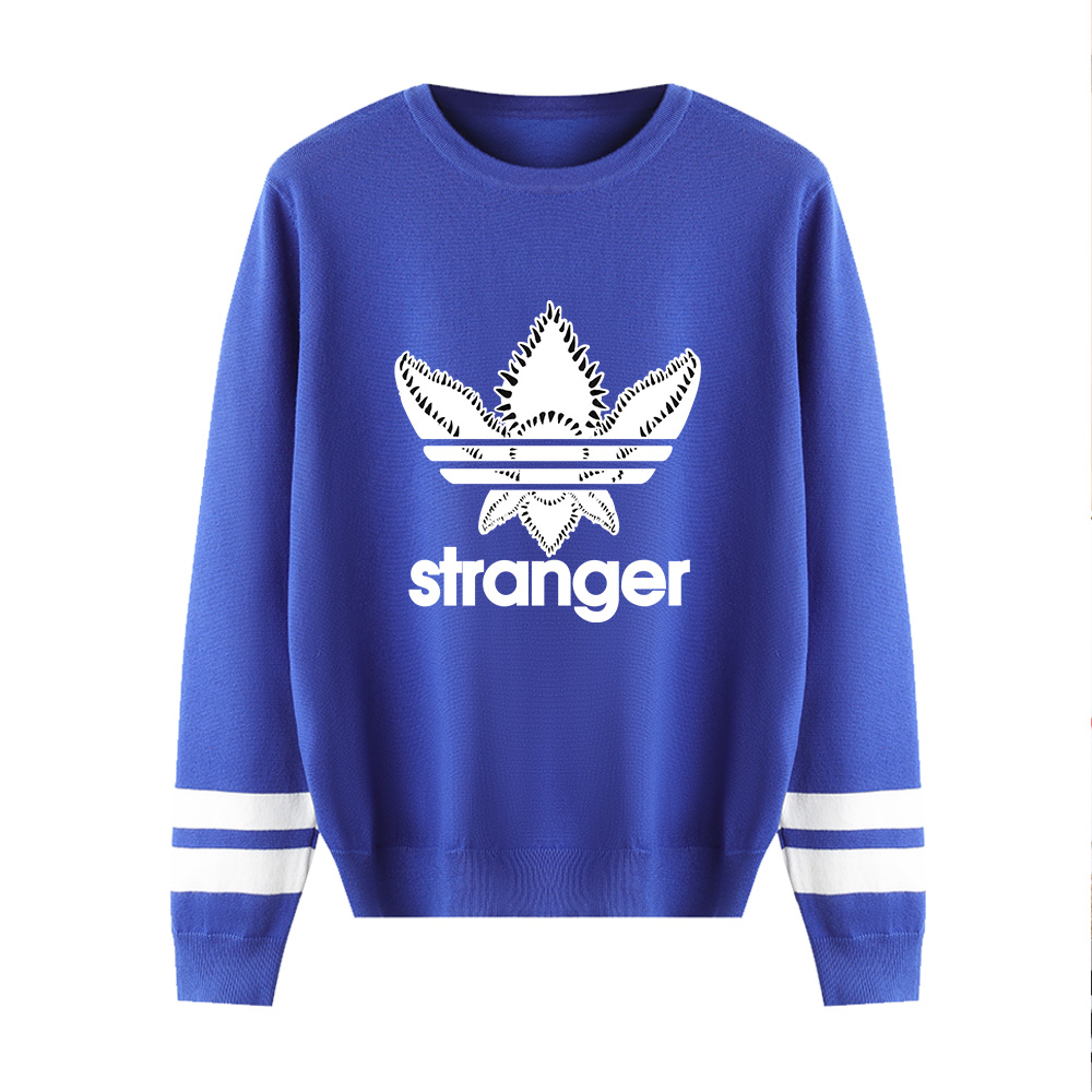 High Quality New Stranger Things Pink Sweater Men/women Autumn Winter Fashion Long Sleeve O-Neck Warm Outwear Knitted Sweater