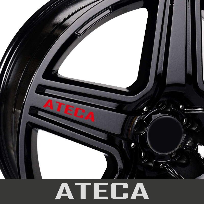 4 шт Автомобильные Колесные диски гоночный автомобиль наклейка Стикеры для сиденья Арона ATECA IBIZA LEON Mii TARRACO порог протектор наклейки аксессуа...