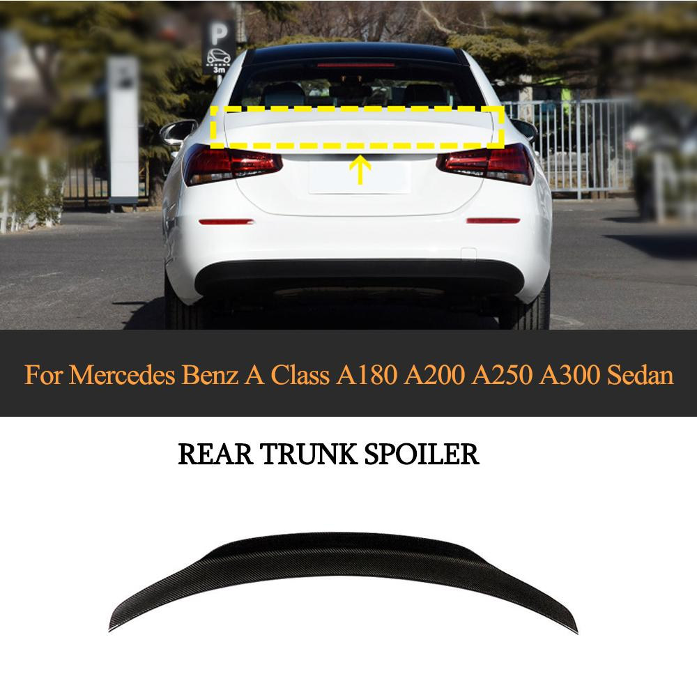 Carbon Fiber Rear Trunk Spoiler for Mercedes Benz A Class W177 A220 Sedan 2019 2020 Rear Wing Spoiler Boot Lid|Spoilers & Wings| |  - title=