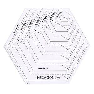 Image 2 - Lmdz 透明アクリル定規 45 度ダイヤモンド定規パッチワーククラフトキルティング定規切断定規スケールホーム縫製ツール