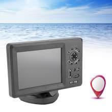 7 pulgadas de navegador Marine GPS carta de navegación Plotter con colorido LCD Antena de GPS interna transpondedor Combo Navigator KP-708