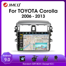 JMCQ For Toyota Corolla E140/150 2006 2013 Car Android 9.0 Radio Multimidia Video Player 2din 4G WIFI GPS Navigaion Split Screen