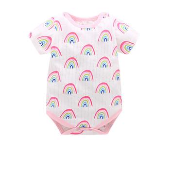 Noworodka ubrania dla dzieci pajacyki dziecięce z motywem z kreskówki dziewczynek odzież wiosna kombinezony chłopięce dla niemowląt Roupas Bebes niemowlę kostium 24M3M6M9M12M tanie i dobre opinie Unini-yun COTTON Cartoon Dziecko dziewczyny Krótki O-neck 6688 Pasuje prawda na wymiar weź swój normalny rozmiar Przycisk zadaszone