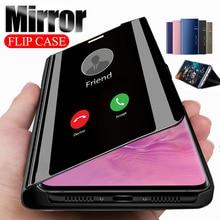 Luxury Plating Mirror Cellphone Flip Case For Huawe