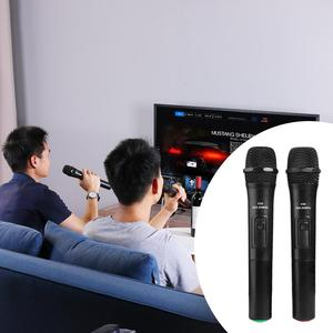 Image 4 - 2pcs Smart Wireless Handheld Microphones Mic With USB Receiver Sound Audio Amplifier For Karaoke Singing Android Smart TV Box