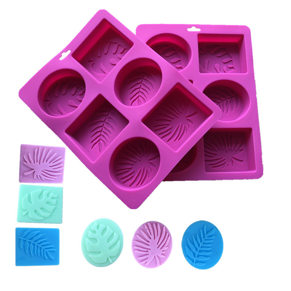 6 Forms Oval Rectangle Silicone Soap Mold For Soap Making 3D DIY Soap Mould Handmade Craft Flowers Bathroom Kitchen Soap Mold