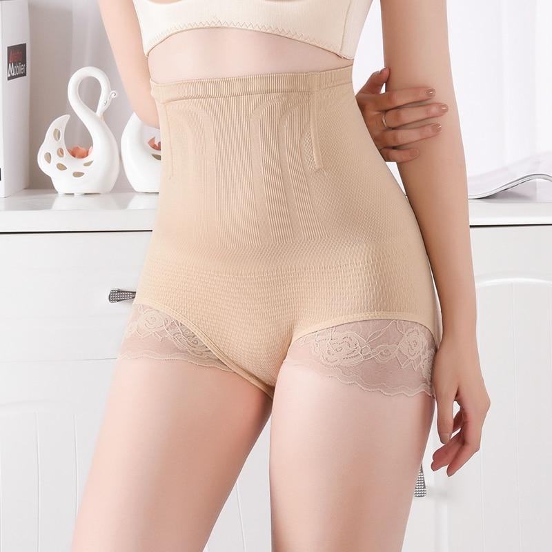 Women Shapewear Lace Control Panties Tummy Control Body Shaper Butt Lifter Panties Slimming Underwear High Waist Women Shaper