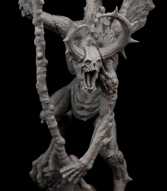 Resin Figure Model Kit Unassambled 230mm ancient fantasy warior stand with wing (WITH BASE )     Unpainted collect Figure 3