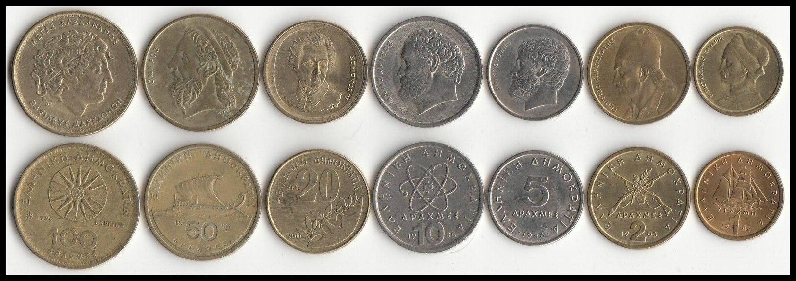 Greece Coin 7 Pieces 1 Set Europe Original Coins Rare Commemorative Edition 100% Real Eu Random Year