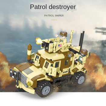Technic Truck Armored Car Modern Military WW2 Soldiers Vehicles US Army Armas Building Blocks Figures Bricks Toys Weapon For Boy the military technic xingbao new 06042 army theme armored tank building blocks ww2 weapon figures bricks boy s birthday toys