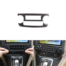 Araba styling yumuşak karbon Fiber merkezi kontrol CD paneli ses düğmesi krom çerçeve Trim Honda CRV 2007 2008 2009 2010 2011