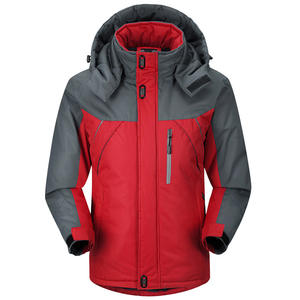 Hooded Ski-Suit Sports-Raincoat Cotton-Padded Mountaineering Outdoor Warm Thick Travel