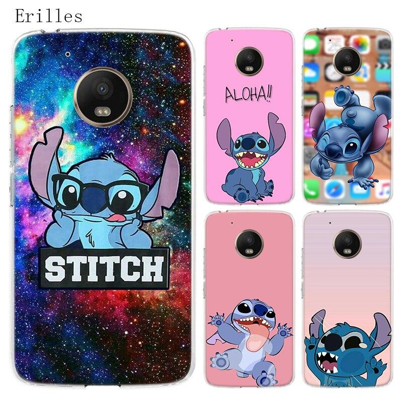 Disneys Steward Stitch Silicone Soft Case For Motorola Moto G8 G7 Power G6 G5 G5S E4 E5 Plus G4 Play Cover Coque