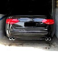 S4 סגנון אביזרי רכב אחורי פגוש שפתיים מפזר לאאודי A4 B8 2009 2012 PU לא צבוע פריימר diffuser for audi rear bumper lipbumper lip -