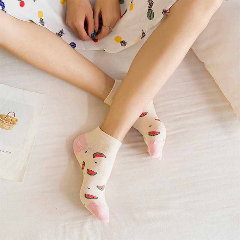 Vrouwen Sokjes Leuke Dieren Fruit Gestreepte Grappige Eenvoudige Meisjes Sokken Comfort Katoen Vrouw Sok PD0121
