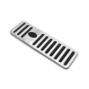 Image 4 - Car For Maserati Ghibli Levante Quattroporte Gas Fuel Brake Footrest Pedal Plate Pad Cover Stainless Steel 2014 2015 2016 2017