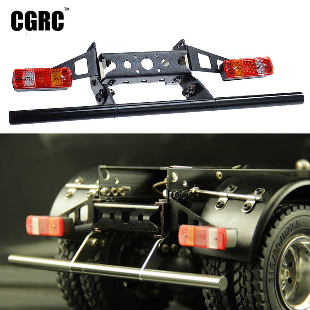Metalen Achter Bump Taillamp Cover Kit Voor 1/14 Tamiya Rc Auto Tow Slepen Trailer Kipper Dumptruck Man Actros Scania R620 upgrade