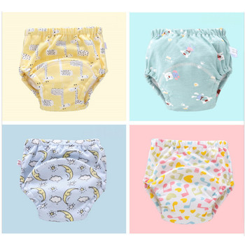 6Layer Waterproof Reusable Baby Cotton Training Pants Infant Shorts Underwear Cloth Diaper Nappies Child Panties Nappy Changing 1