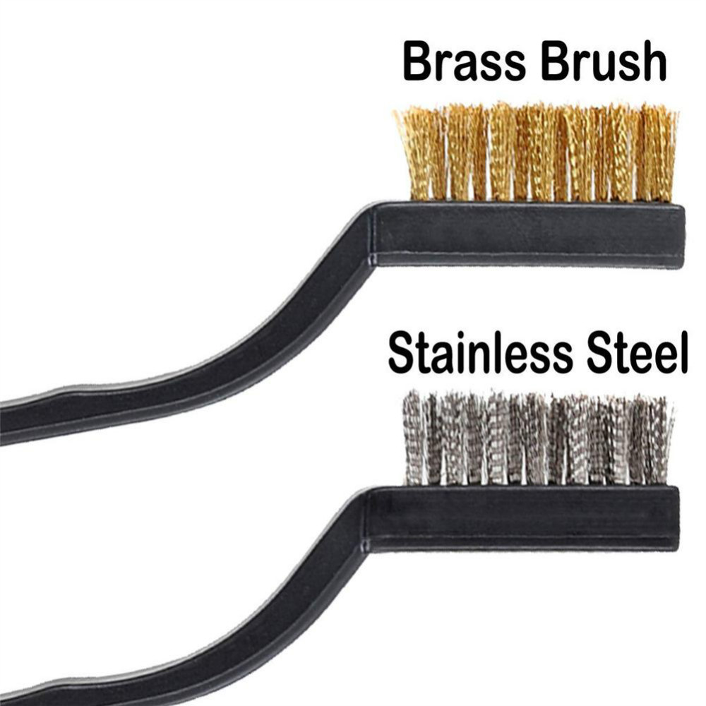 3/12pcs Mini Rust Removal Industrial Wire Cleaning Brush Scratch Stainless Masonry Bristle Cleaning Accessories Wholesale