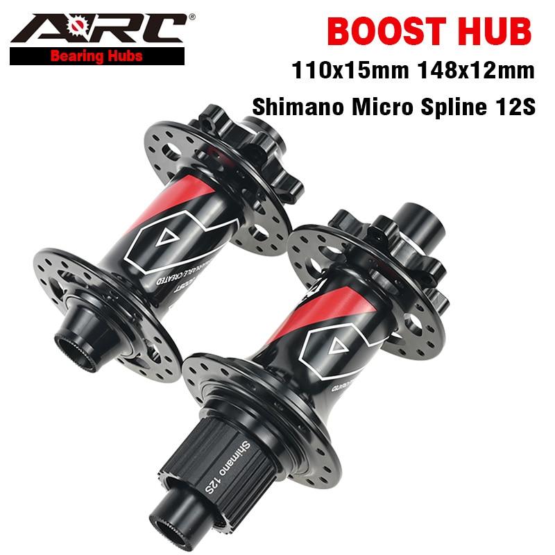 ARC Boost Hub 4 Bearings MTB Hub 6 Pawls 3 Teeth 15x110 12x148 for Micro Spline 12S Shimano 8-12S Sram XD 12S Bicycle BIke Hub