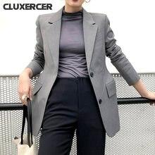 Весенняя Новинка женские куртки и блейзеры однотонная куртка