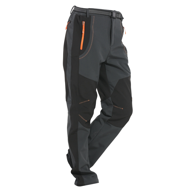 Winter Men Women Hiking Pants Outdoor Softshell Trousers Waterproof Windproof For Camping Ski Climbing