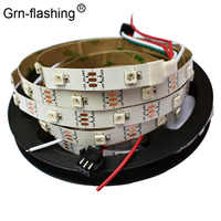 5m ws2812B colorida tira de luz led SMD 5050 30 leds/m IP30 blanco PCB DC5V alimentación 2812 IC tira de luz flexible de Color mágico de sueño