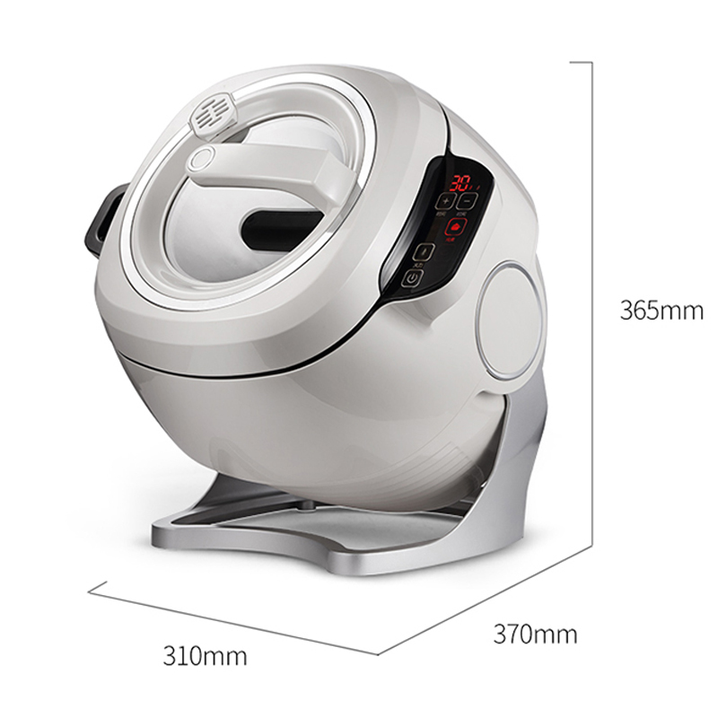 6L 220V 2000W Intelligent Automatic Stir Frying Machine Household Electric Cooking Wok Pot Non-stick Multifunctional Cooker Pot