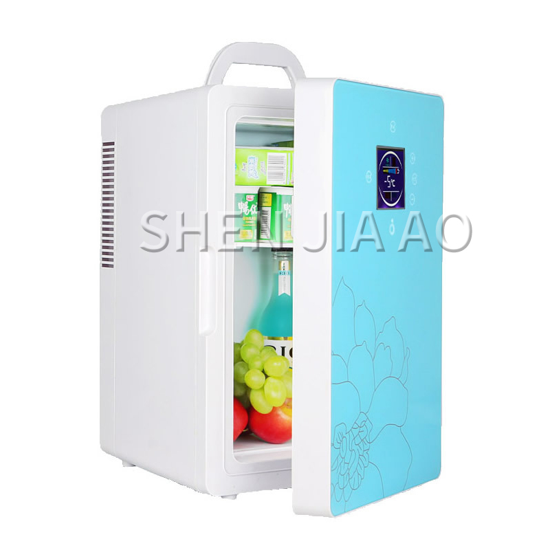 16L Car Refrigerator Dual-core LCD Display Temperature Control Small Refrigerator Mini Home Dormitory Cosmetic Fridge 1pc