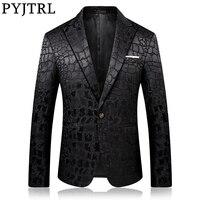 Пиджак мужской в стиле крокодиловой кожи 1