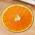 Alta qualidade fruta tapete shaggy macio tapete decoração do quarto redonda fruta tapete