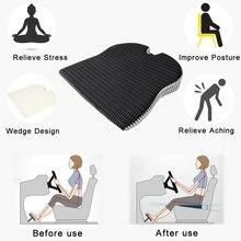 Подушка для автомобильного клиновидного сиденья, офисное кресло для водителя, кресло-коляска с эффектом памяти, подушка для сиденья-ортопе...