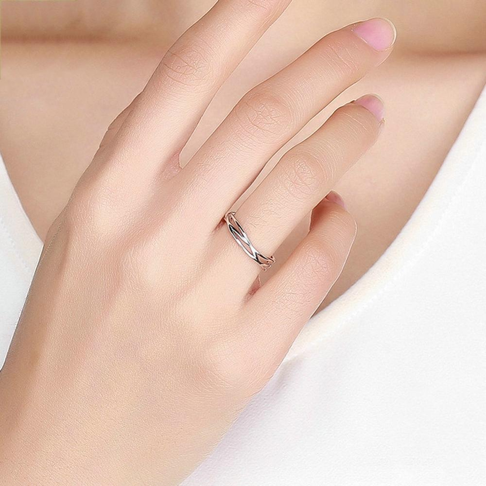 imixlot New Fashion 925 Sterling Silver Geometric Twisted Wave Open Size Finger Rings Women Wedding Engagement Jewelry