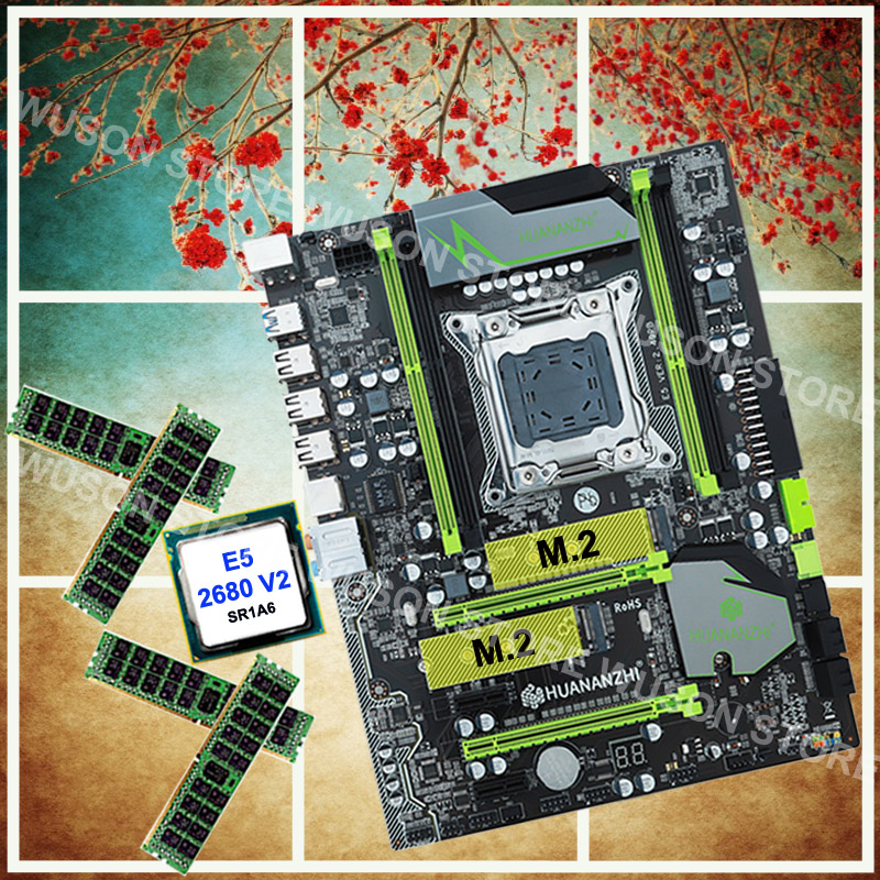 Brand new HUANAN ZHI X79 discount motherboard with M.2 slot processor Xeon E5 <font><b>2680</b></font> V2 2.8GHz SR1A6 RAM 32G(4*8G) DDR3 1600 RECC image