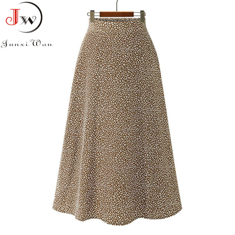 Vintage floral print chiffon skirts women Sprint Summer korean A line Pink streetwear high waist ladies midi skirt 6