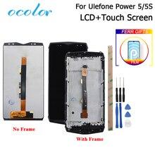 Ocolor ل Ulefone الطاقة 5 شاشة الكريستال السائل وشاشة تعمل باللمس مع الإطار الجمعية استبدال أداة ل Ulefone الطاقة 5s LCD فيلم