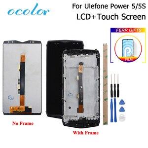 Image 1 - Ocolor para ulefone power 5 display lcd e tela de toque com montagem do quadro substituição + ferramenta para ulefone power 5S lcd filme
