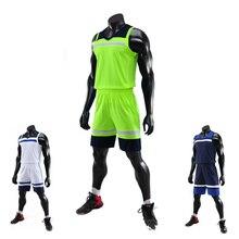 1 комплект, Мужская одежда для баскетбола, костюм для взрослых, индивидуальная командная тренировочная одежда, жилет, дышащая баскетбольная Футболка