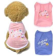 dog clothes for small dogs girl Pet Dog Birthday Shirt Painting Polar Puppy Coat Pets Cat Warm Clothes Coat Gilet per cani*5(China)