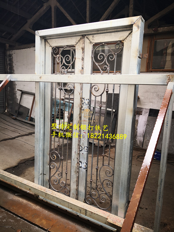 Shanghai China Factory Producing  Wrought Iron Doors High Quality Export To U.S ,model  Hench-ad17