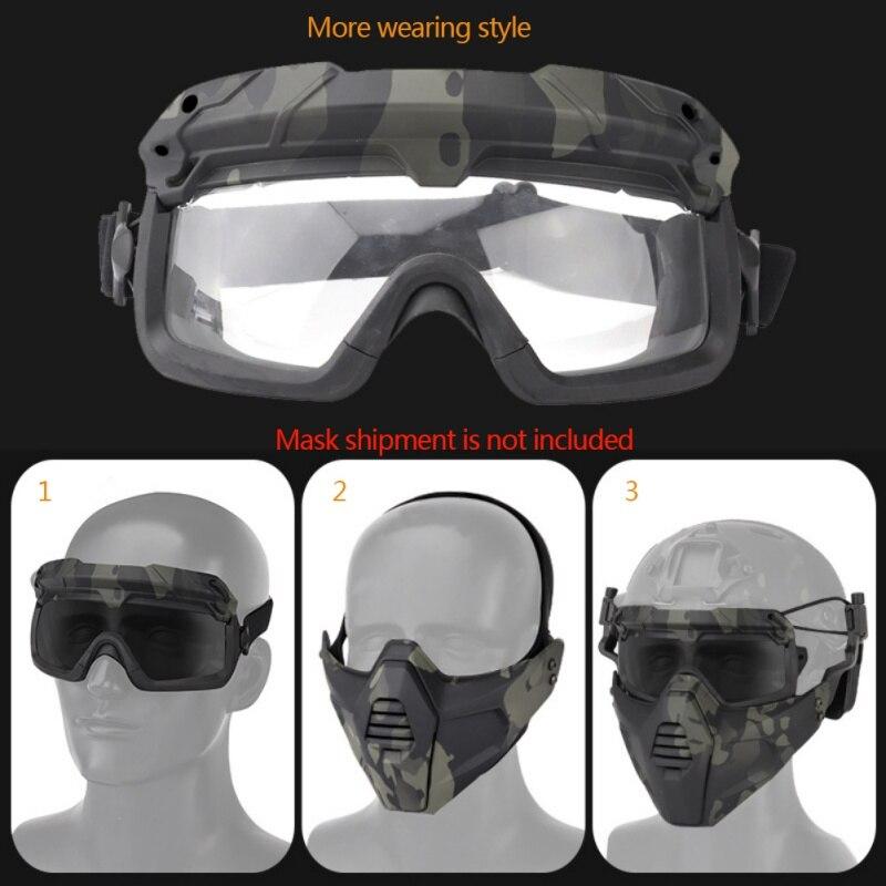 Страйкбольные охотничьи очки, очки для стрельбы, ветрозащитные очки Wargame, шлем, очки для пейнтбола, защитные очки для глаз - 6
