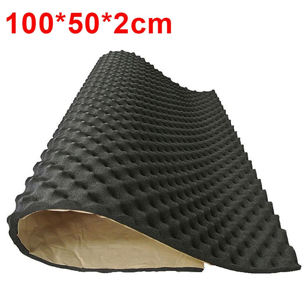100*50cm 50*50cm Car Sound Deadener Mat Sound Deadening Noise Insulation Acoustic Dampening Foam Subwoofer Mat Autos Accessories