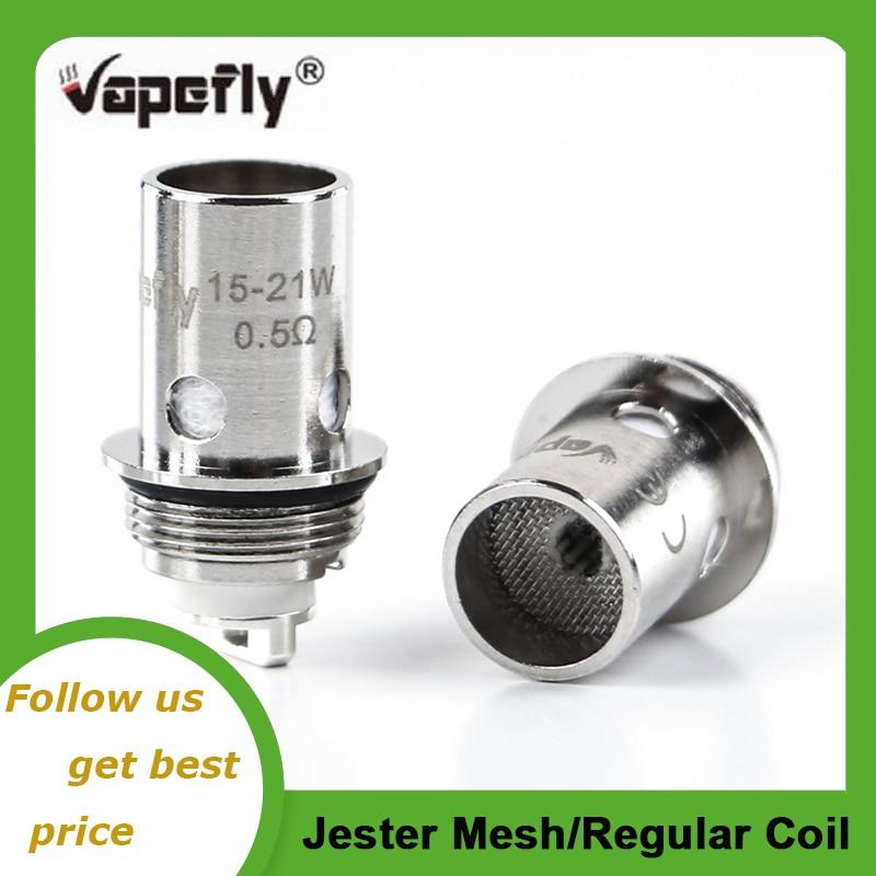 Original Vapefly Jester Coil Head 0.5ohm Mesh 1.2ohm Regular Coil For Vapefly Jester Kit Vape Vaporizer E Cigarette