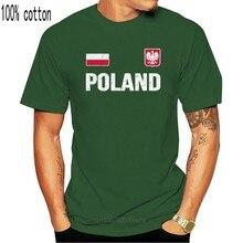 Moda cor sólida camisa masculina polska retro camiseta polónia soccers camisa estilo casual