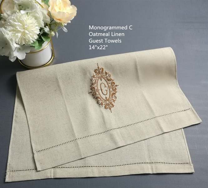 Set Of 12 Monogrammed Guest Towel 14*22